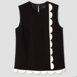 NWT Victoria Beckham for target scalloped top